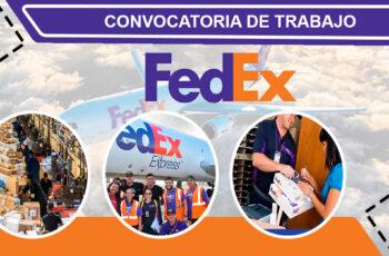 Oportunidad laboral FEDEX